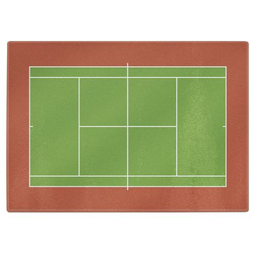 Tennis Court Tempered Glass Chopping Board